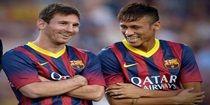 Neymar e Messi começam como titulares contra o Atlético de Madri